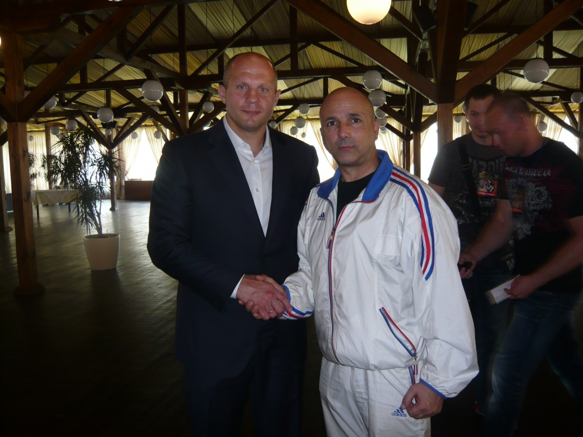 Fedor Emelianenko et Eric La Rocca au congrés international de juin 2013 à Kiev