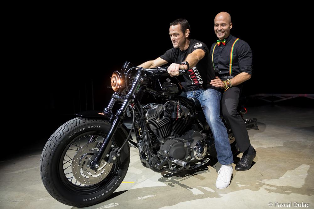 Arrivée en Sportster HD Forty Height d'Emmanuel FERNANDEZ & de sébastien LOEW